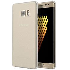 Cover Silicone Trasparente Ultra Sottile Morbida T03 per Samsung Galaxy Note 7 Chiaro