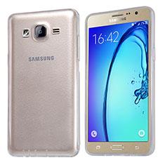 Cover Silicone Trasparente Ultra Sottile Morbida T03 per Samsung Galaxy On5 G550FY Chiaro