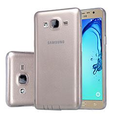 Cover Silicone Trasparente Ultra Sottile Morbida T03 per Samsung Galaxy On5 Pro Grigio