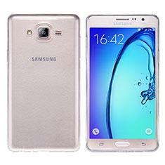 Cover Silicone Trasparente Ultra Sottile Morbida T03 per Samsung Galaxy On7 G600FY Chiaro