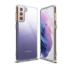 Cover Silicone Trasparente Ultra Sottile Morbida T03 per Samsung Galaxy S21 5G Chiaro