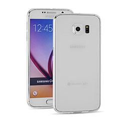 Cover Silicone Trasparente Ultra Sottile Morbida T03 per Samsung Galaxy S6 Duos SM-G920F G9200 Chiaro