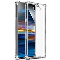 Cover Silicone Trasparente Ultra Sottile Morbida T03 per Sony Xperia 10 Plus Chiaro