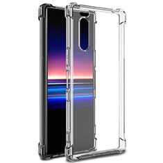 Cover Silicone Trasparente Ultra Sottile Morbida T03 per Sony Xperia 5 Chiaro