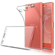 Cover Silicone Trasparente Ultra Sottile Morbida T03 per Sony Xperia XZ1 Compact Chiaro