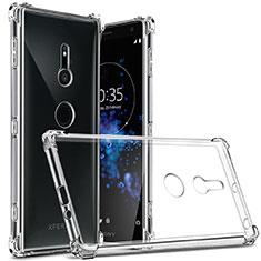 Cover Silicone Trasparente Ultra Sottile Morbida T03 per Sony Xperia XZ2 Chiaro