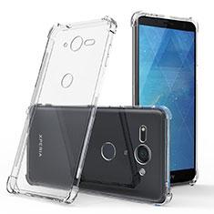 Cover Silicone Trasparente Ultra Sottile Morbida T03 per Sony Xperia XZ2 Compact Chiaro