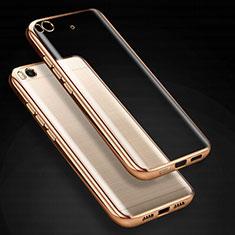 Cover Silicone Trasparente Ultra Sottile Morbida T03 per Xiaomi Mi 5S Oro
