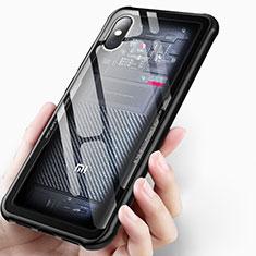 Cover Silicone Trasparente Ultra Sottile Morbida T03 per Xiaomi Mi 8 Pro Global Version Nero