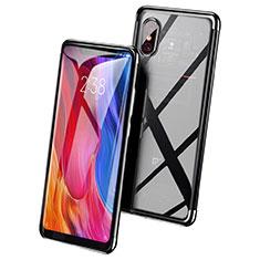 Cover Silicone Trasparente Ultra Sottile Morbida T03 per Xiaomi Mi 8 Screen Fingerprint Edition Nero