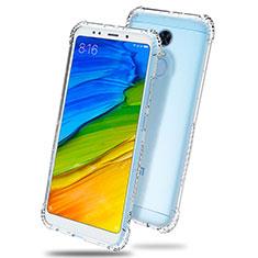 Cover Silicone Trasparente Ultra Sottile Morbida T03 per Xiaomi Redmi 5 Plus Chiaro