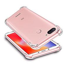 Cover Silicone Trasparente Ultra Sottile Morbida T03 per Xiaomi Redmi 6 Chiaro