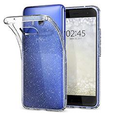 Cover Silicone Trasparente Ultra Sottile Morbida T04 per HTC U11 Chiaro