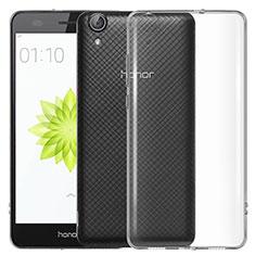 Cover Silicone Trasparente Ultra Sottile Morbida T04 per Huawei Honor 5A Chiaro