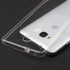 Cover Silicone Trasparente Ultra Sottile Morbida T04 per Huawei Honor 5X Chiaro