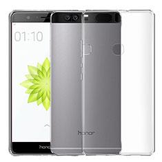 Cover Silicone Trasparente Ultra Sottile Morbida T04 per Huawei Honor V8 Chiaro