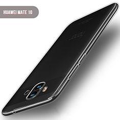 Cover Silicone Trasparente Ultra Sottile Morbida T04 per Huawei Mate 10 Chiaro