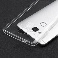 Cover Silicone Trasparente Ultra Sottile Morbida T04 per Huawei Mate 7 Chiaro