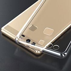 Cover Silicone Trasparente Ultra Sottile Morbida T04 per Huawei P9 Plus Chiaro