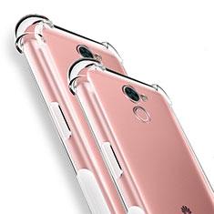 Cover Silicone Trasparente Ultra Sottile Morbida T04 per Huawei Y7 Prime Chiaro
