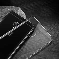 Cover Silicone Trasparente Ultra Sottile Morbida T04 per OnePlus 3 Chiaro