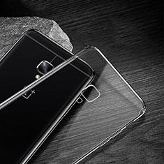 Cover Silicone Trasparente Ultra Sottile Morbida T04 per OnePlus 3T Chiaro