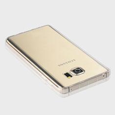 Cover Silicone Trasparente Ultra Sottile Morbida T04 per Samsung Galaxy Note 5 N9200 N920 N920F Chiaro