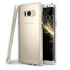 Cover Silicone Trasparente Ultra Sottile Morbida T04 per Samsung Galaxy S8 Plus Chiaro