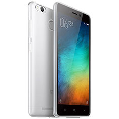 Cover Silicone Trasparente Ultra Sottile Morbida T04 per Xiaomi Redmi 3 Pro Chiaro