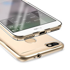 Cover Silicone Trasparente Ultra Sottile Morbida T05 per Huawei Enjoy 7 Chiaro