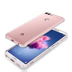 Cover Silicone Trasparente Ultra Sottile Morbida T05 per Huawei Enjoy 7S Chiaro