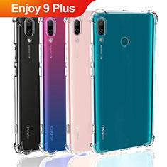 Cover Silicone Trasparente Ultra Sottile Morbida T05 per Huawei Enjoy 9 Plus Chiaro