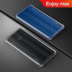 Cover Silicone Trasparente Ultra Sottile Morbida T05 per Huawei Enjoy Max Chiaro