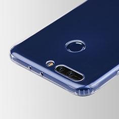 Cover Silicone Trasparente Ultra Sottile Morbida T05 per Huawei Honor V9 Chiaro