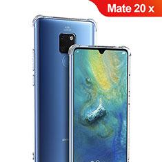 Cover Silicone Trasparente Ultra Sottile Morbida T05 per Huawei Mate 20 X Chiaro