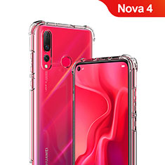 Cover Silicone Trasparente Ultra Sottile Morbida T05 per Huawei Nova 4 Chiaro