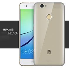 Cover Silicone Trasparente Ultra Sottile Morbida T05 per Huawei Nova Grigio