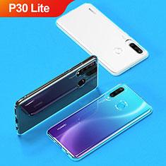 Cover Silicone Trasparente Ultra Sottile Morbida T05 per Huawei P30 Lite Chiaro