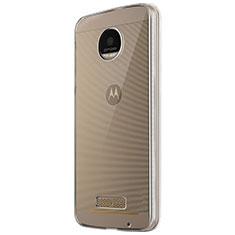 Cover Silicone Trasparente Ultra Sottile Morbida T05 per Motorola Moto Z Play Chiaro