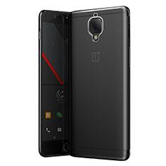 Cover Silicone Trasparente Ultra Sottile Morbida T05 per OnePlus 3 Grigio