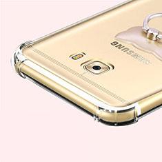 Cover Silicone Trasparente Ultra Sottile Morbida T05 per Samsung Galaxy C7 Pro C7010 Grigio