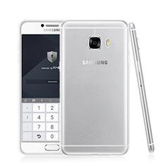 Cover Silicone Trasparente Ultra Sottile Morbida T05 per Samsung Galaxy C7 SM-C7000 Chiaro