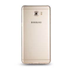 Cover Silicone Trasparente Ultra Sottile Morbida T05 per Samsung Galaxy C9 Pro C9000 Chiaro