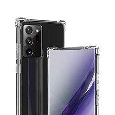 Cover Silicone Trasparente Ultra Sottile Morbida T05 per Samsung Galaxy Note 20 Ultra 5G Chiaro