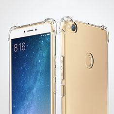 Cover Silicone Trasparente Ultra Sottile Morbida T05 per Xiaomi Mi Max 2 Chiaro