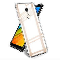 Cover Silicone Trasparente Ultra Sottile Morbida T05 per Xiaomi Redmi 5 Plus Chiaro