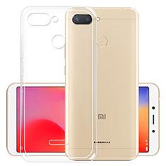 Cover Silicone Trasparente Ultra Sottile Morbida T05 per Xiaomi Redmi 6 Chiaro