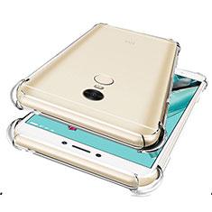 Cover Silicone Trasparente Ultra Sottile Morbida T05 per Xiaomi Redmi Note 4 Standard Edition Chiaro