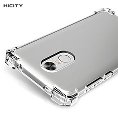 Cover Silicone Trasparente Ultra Sottile Morbida T05 per Xiaomi Redmi Note 4X Chiaro