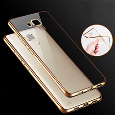 Cover Silicone Trasparente Ultra Sottile Morbida T06 per Huawei GR5 Oro